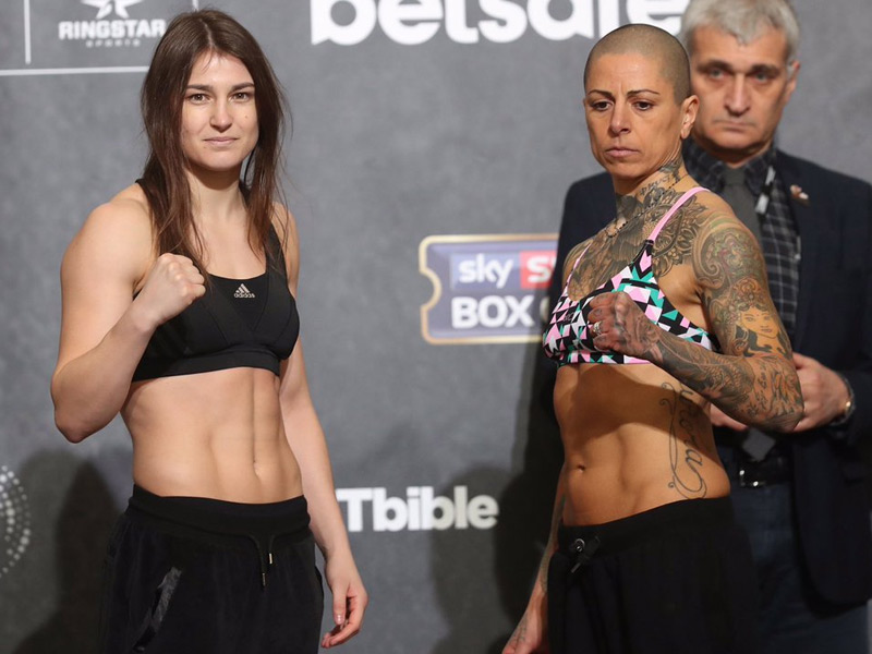 Katie weighs in for 3rd pro fight