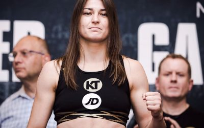 Katie weighs in ahead of Brooklyn bout