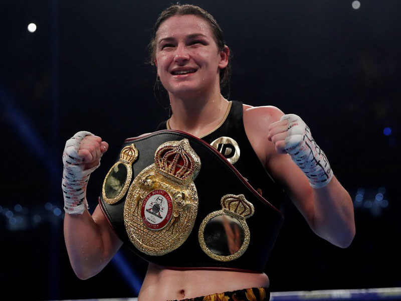 Katie wins first professional World title