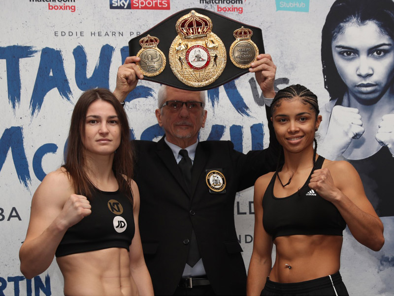 Taylor and McCaskill weigh in ahead of World title fight