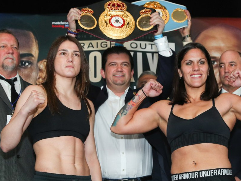Taylor and Bustos weigh in ahead of unification fight