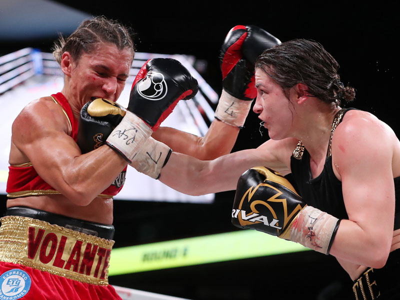 Taylor stops Volante to add WBO title to WBA and IBF belts
